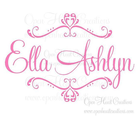 Girl Name Wall Decal - Personalized Baby Name Wall Decals - Name Decal with Heart Accents for Nursery 22H x 32W FN0188  sc 1 st  Pinterest & Girl Name Wall Decal - Personalized Baby Name Wall Decals - Name ...