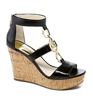 30f03bf4e1292 Buy michael kors cork wedges   OFF66% Discounted
