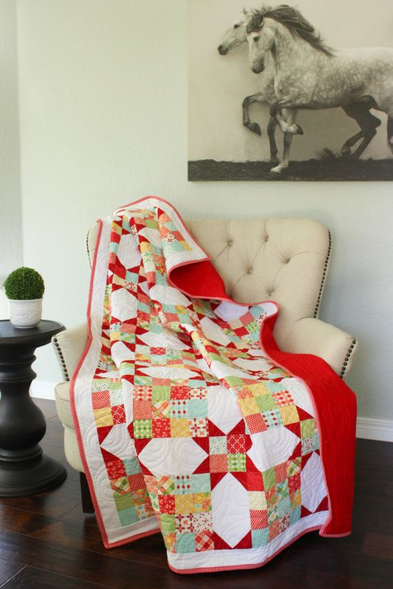 Lap Quilt Quilted Throw Red Quilt Sofa Quilt Quilts Lap