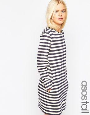 ASOS TALL Sweat Dress In Stripe