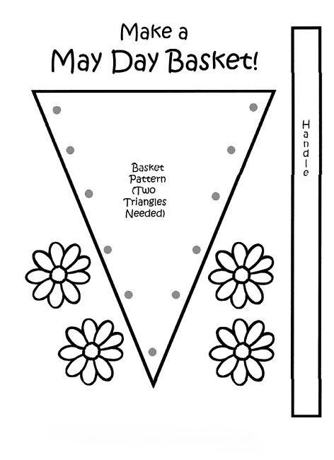 Free Printable May Day Coloring Pages