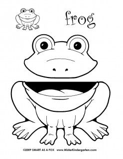 MisterKindergarten Wild Animal Puppets  Coloring Pages