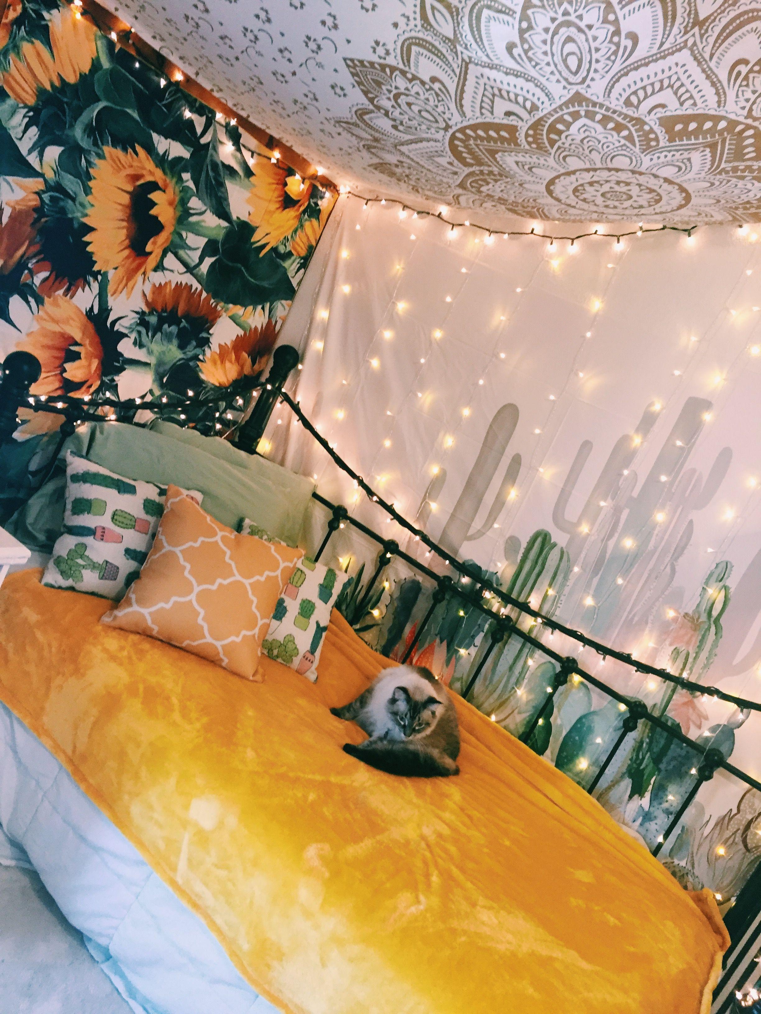 Sunflower Themed Room Follow Me On Insta Hdaniels Yellow Room Decor Yellow Bedroom Decor Aesthetic Bedroom