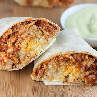 Taco Bell Chicken Burrito #shreddedchickentacos