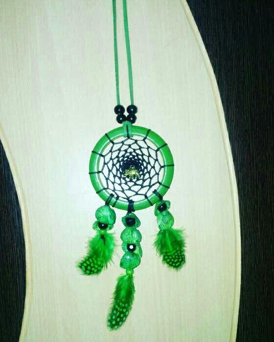 Aura's Green Glow DreamcatcherNecklace