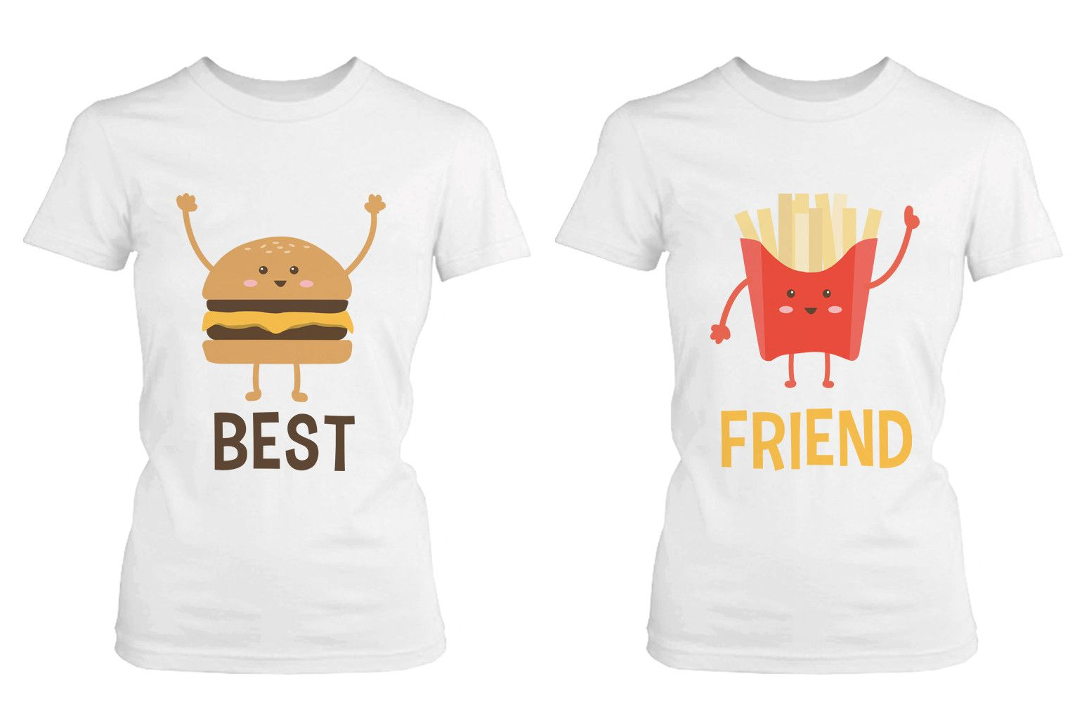 burger and fries bff shirts best friend matching tees cute. Black Bedroom Furniture Sets. Home Design Ideas