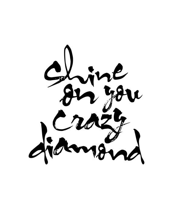 Trend Mark Shine Bright Like A Diamond Wall Sticker Rose Gold Quote Bedroom Living Room Home & Garden Decals, Stickers & Vinyl Art