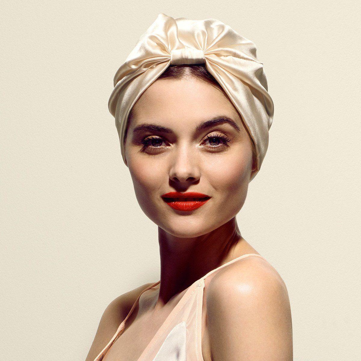 The sofia Satin hair wrap, Silk hair, Overnight hairstyles