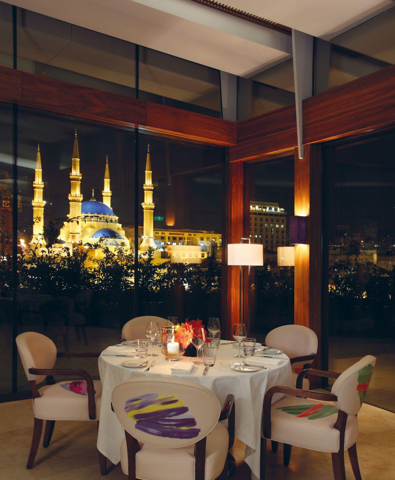 Indigo On The Roof Le Grey Beirut Beirut Romantic Restaurant Hotel