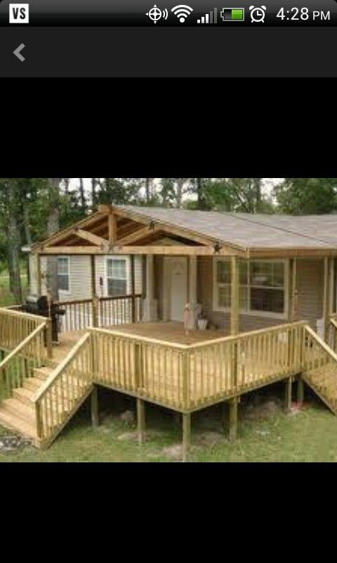 Back Porch Covered Deck Mobile Home Porch Mobile Home Deck