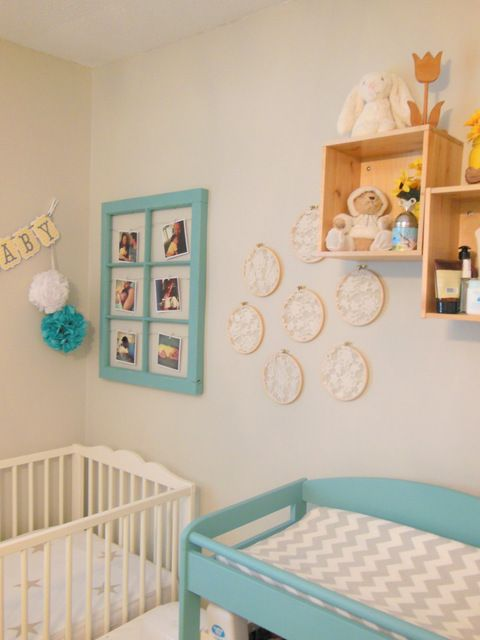 A Vintage Chic And Gender Neutral Blue Yellow Baby Nursery Decorated With Chalk Paint Decorative By Annie Sloan In Provence The Sweetest