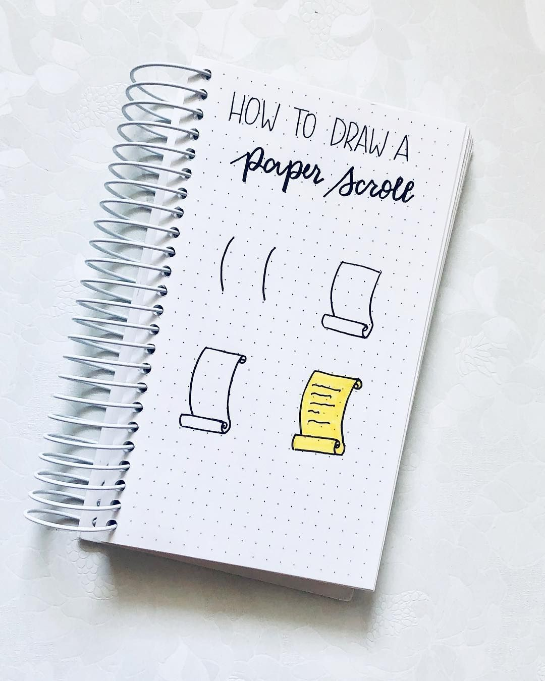 Junefolio On Instagram How To Draw A Paper Scroll Pen Brustro Technical P Bullet Journal Writing Bullet Journal Ideas Pages Bullet Journal Doodles