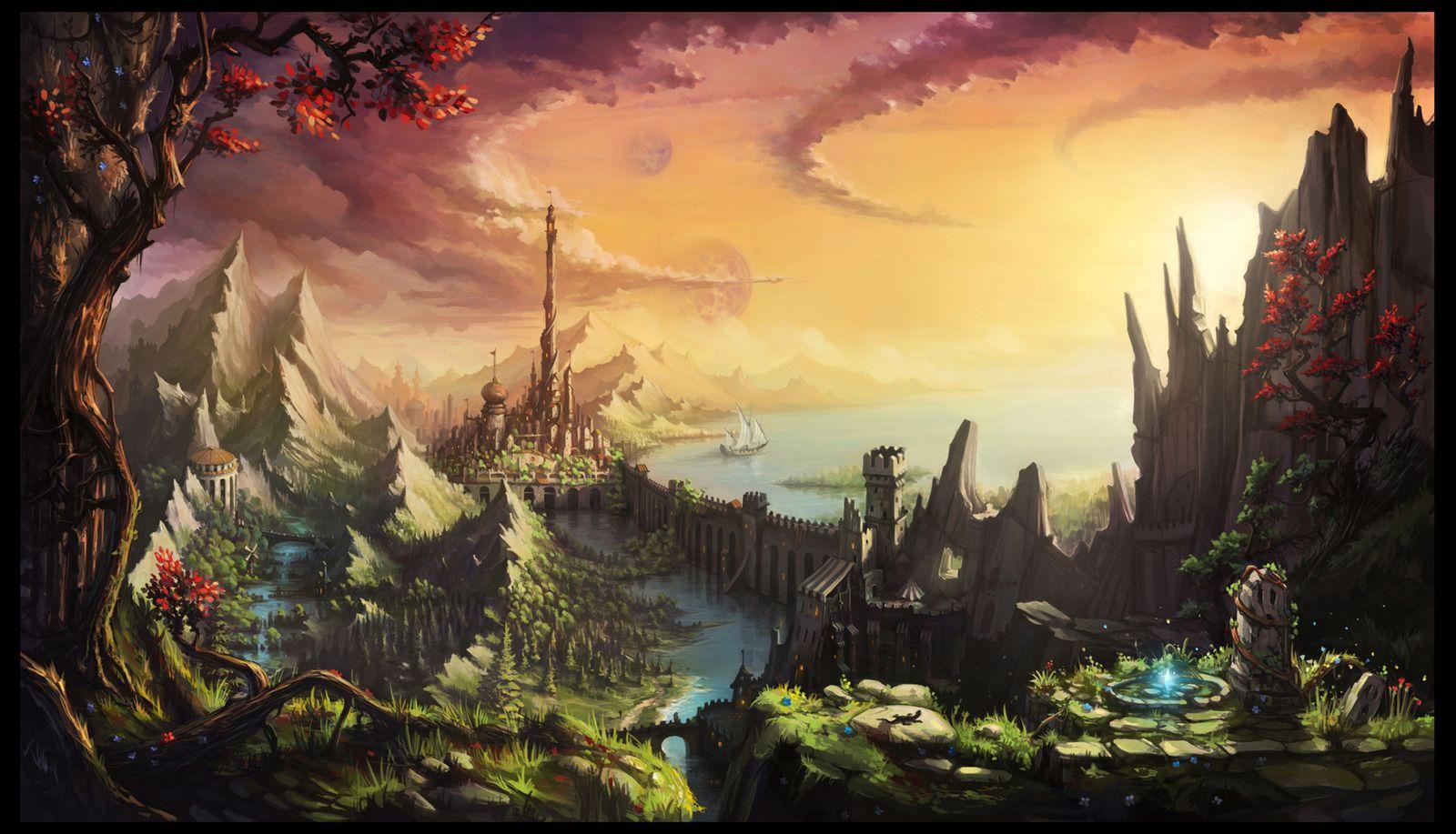 Fantasy landscape art google search fantasy landscape for Find a landscaper