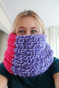 VERY bulky scarf.. mmmm