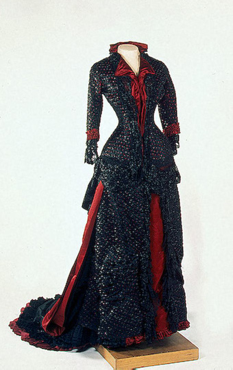 """oldrags: """"Evening dress of Empress Maria Fyodorovna, 1880-83, State Hermitage Museum """""""
