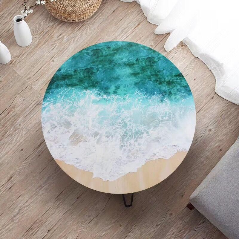 Resin Ocean Wave Coffee Table Epoxy Beach Side Table Free Shipping