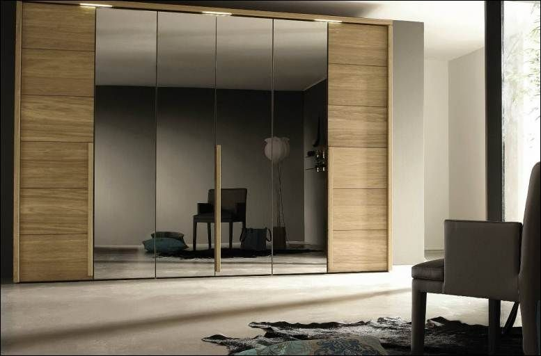Modern Wardrobes Designs For Bedrooms Furniture Elegant Wardrobe Design Combine Large Mirror Door Plus