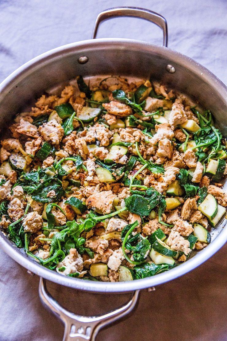 Zucchini and Ground Turkey Skillet