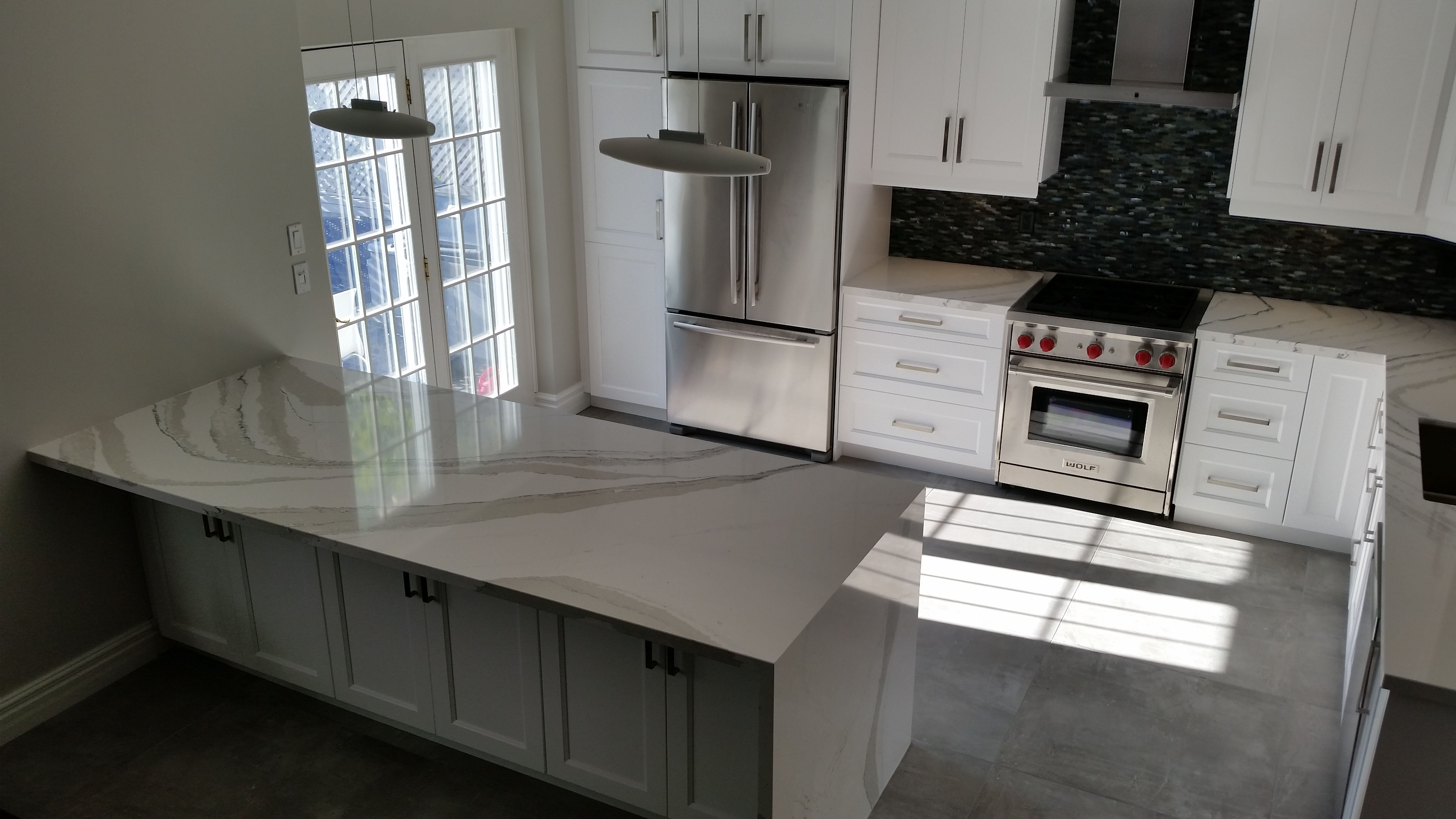 A Touch Of Red Makes This Kitchen Look Extra Modern One Of My Favourite Jobs By Techno Kitchen Refacing Kitchen Refacing Kitchen Contemporary Kitchen