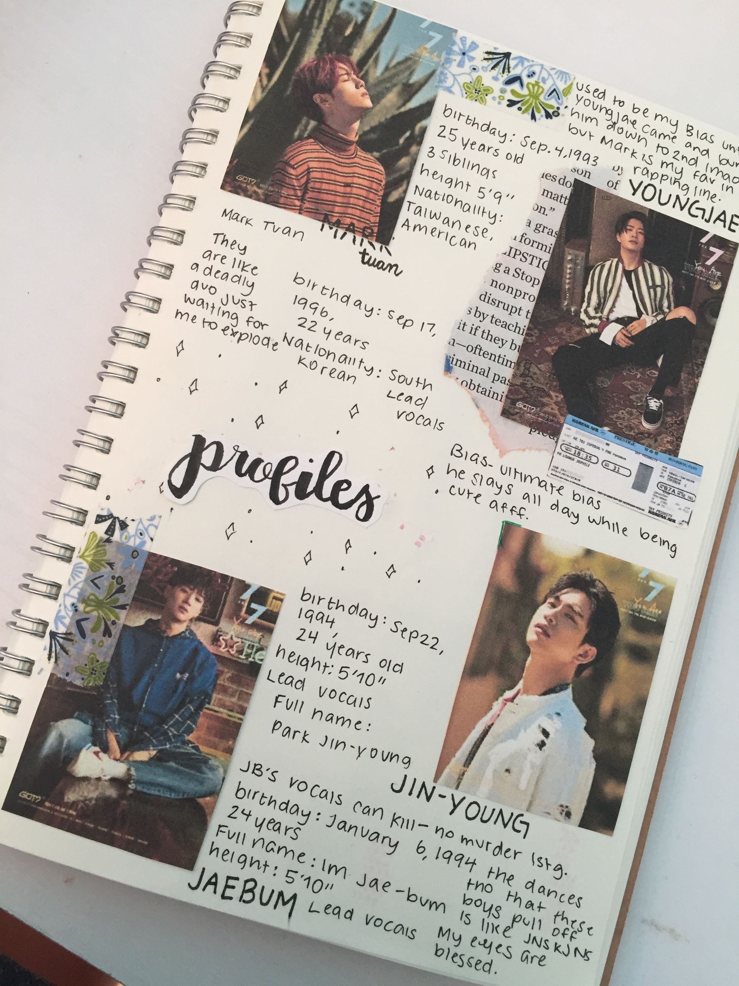 Got7 Profiles Got7 Kpopjournal Kpopbulletjournal Kpopbujo Ideias Para Cadernos Jornalismo Coisas De Papelaria They are multinational with members from south korea, hong kong, thailand and the united states. got7 profiles got7 kpopjournal