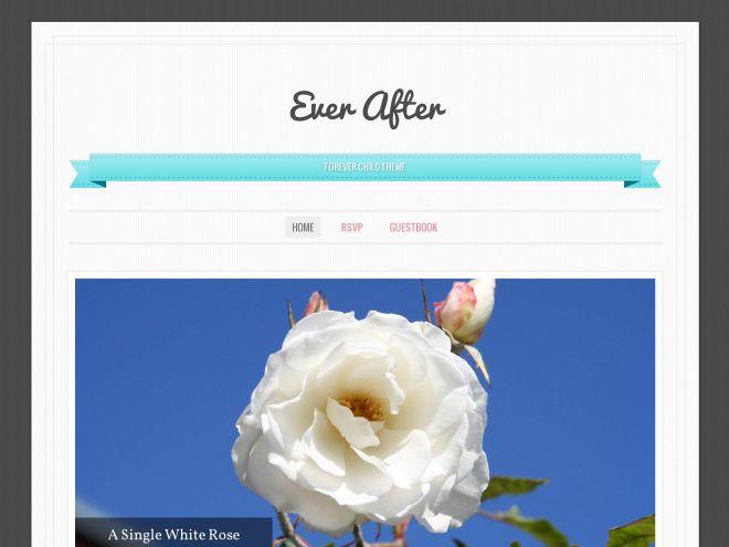 Un precioso tema de WordPress para bodas y Blogs de cosas dulces ...