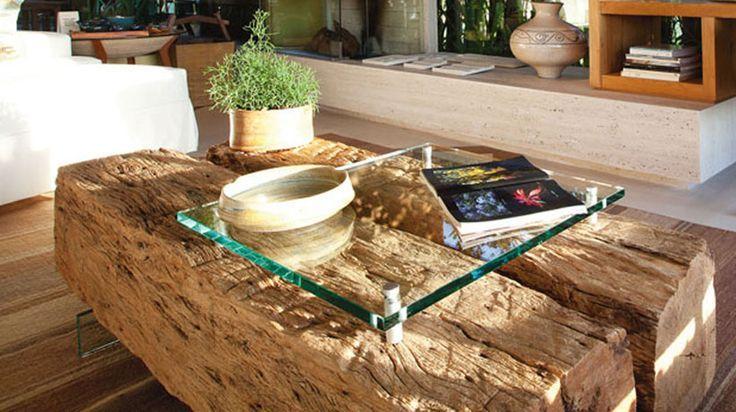 mesa de centro com tronco de arvore Pesquisa Google | Mesa