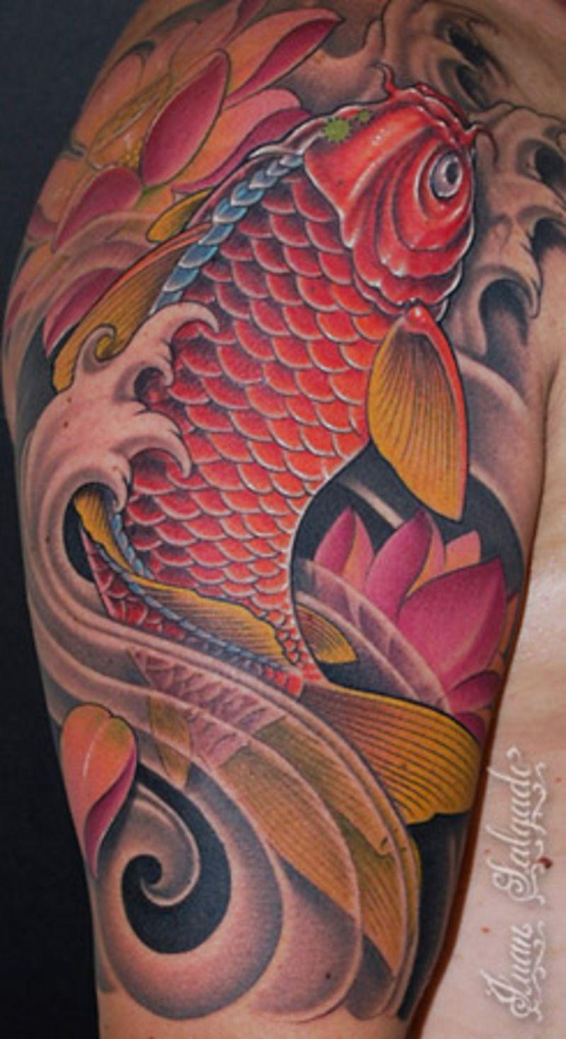 koi tattoos | Red Koi Fish Tattoo | tattoos | Pinterest | Koi fish ...
