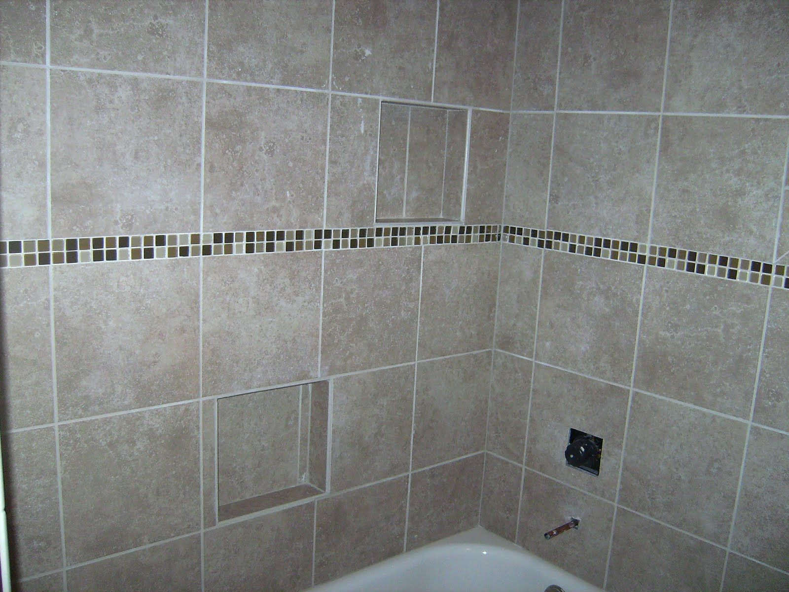 How to tile a bathroom walls as well as shower tub area shower tub bathroom designs and tubs - Tile shower surround ideas ...