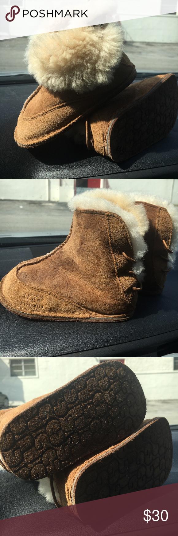 fa7d54742ea UGG BABY BOO Boot Suede Sheepskin Infant ~5206~ UGG Australia Baby ...