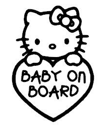 Hello Kitty Baby Vinyl Car Window Laptop Decal Sticker