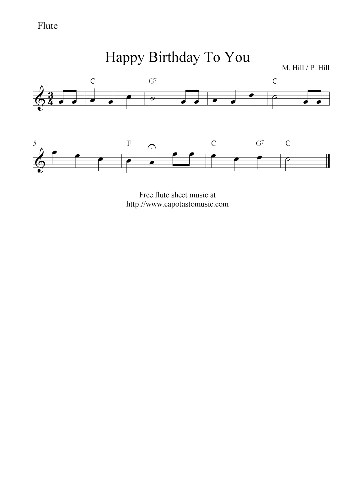 Feel free to download and print out a high quality pdf score with free sheet music scores happy birthday to you free flute sheet music notesif this is flute sheet musicey got a lot of the notes wrong hexwebz Gallery
