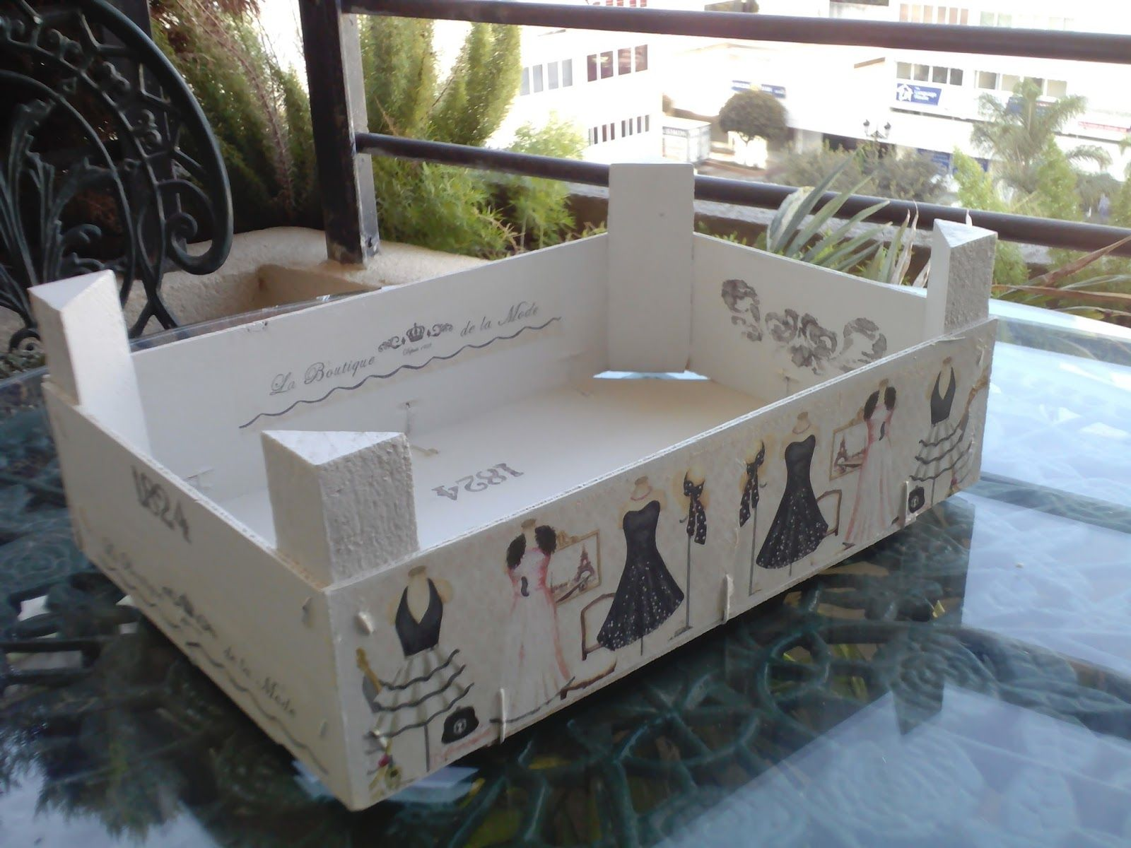 Blog sobre todo de pintura a nq tambi n incluye - Como decorar cajas de madera de fruta ...