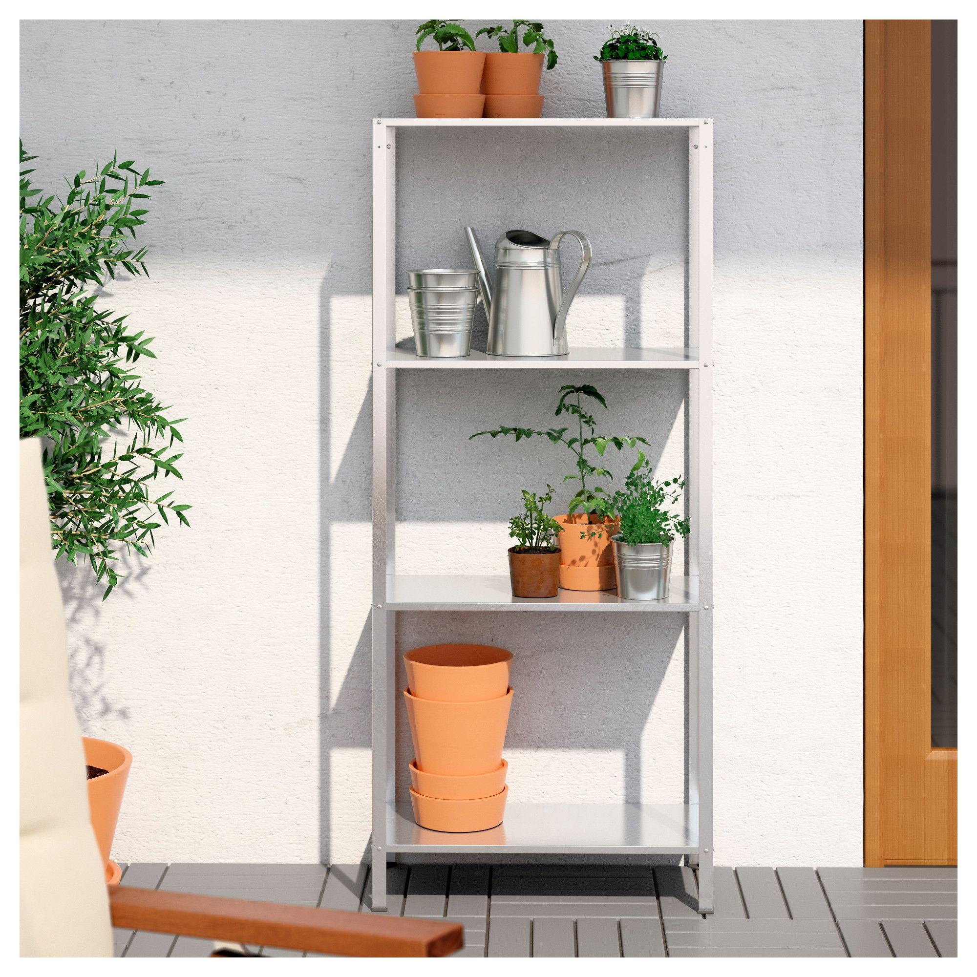 hyllis shelving unit in outdoor 60 x 27 x 140 cm living. Black Bedroom Furniture Sets. Home Design Ideas