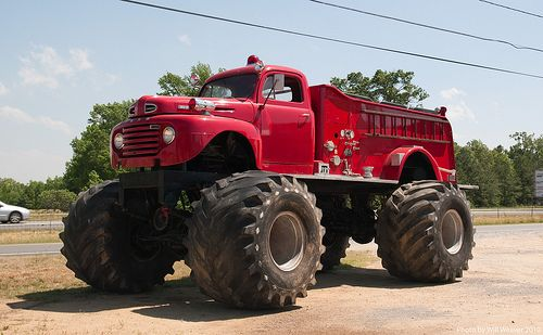 Just A Good Old Fire Monster Truck Monster Trucks Big Monster Trucks Fire Trucks