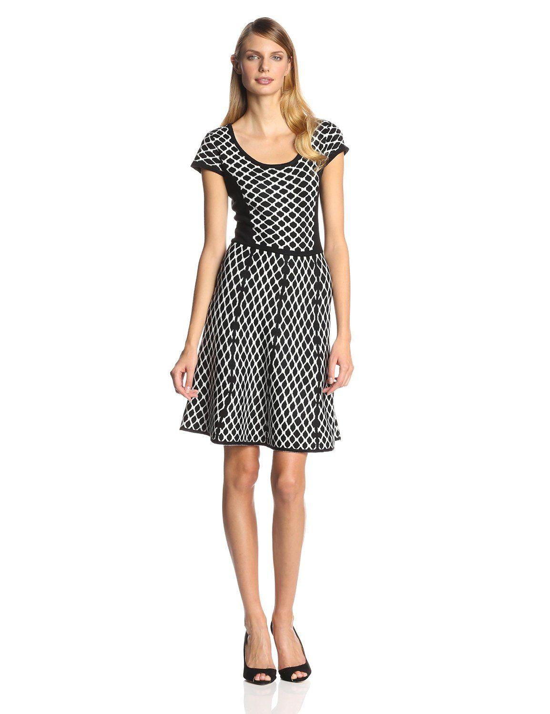 Parker Womens Sondra Sleeveless Fit to Flare Knit Dress
