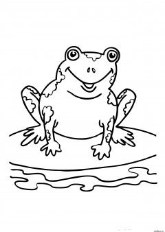 Printabel Coloring Pages Speckled Frog Free Online