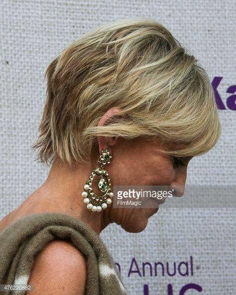 actress sharon stone hair detail