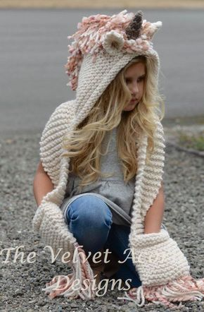 Fantastical Creature Knitting Patterns | Super bulky yarn, Hooded ...