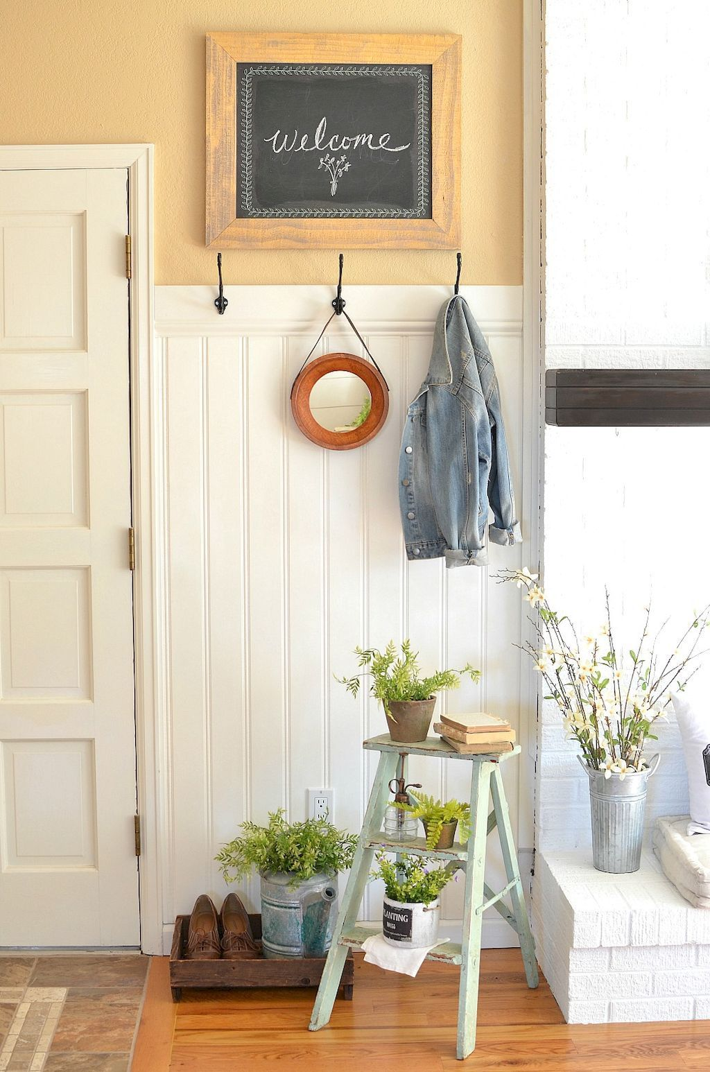 Rustic Entryway Decorating Ideas (45 | Rustic entryway and Vintage ...