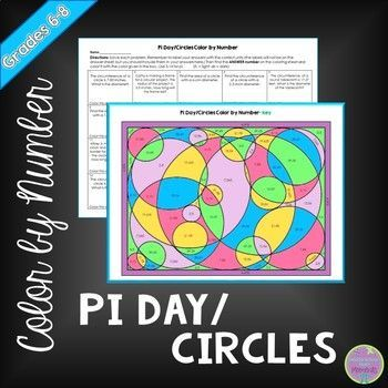 Pi Day Activity Circles Color By Number Math Lessons Middle School High School Math Teacher Middle School Math