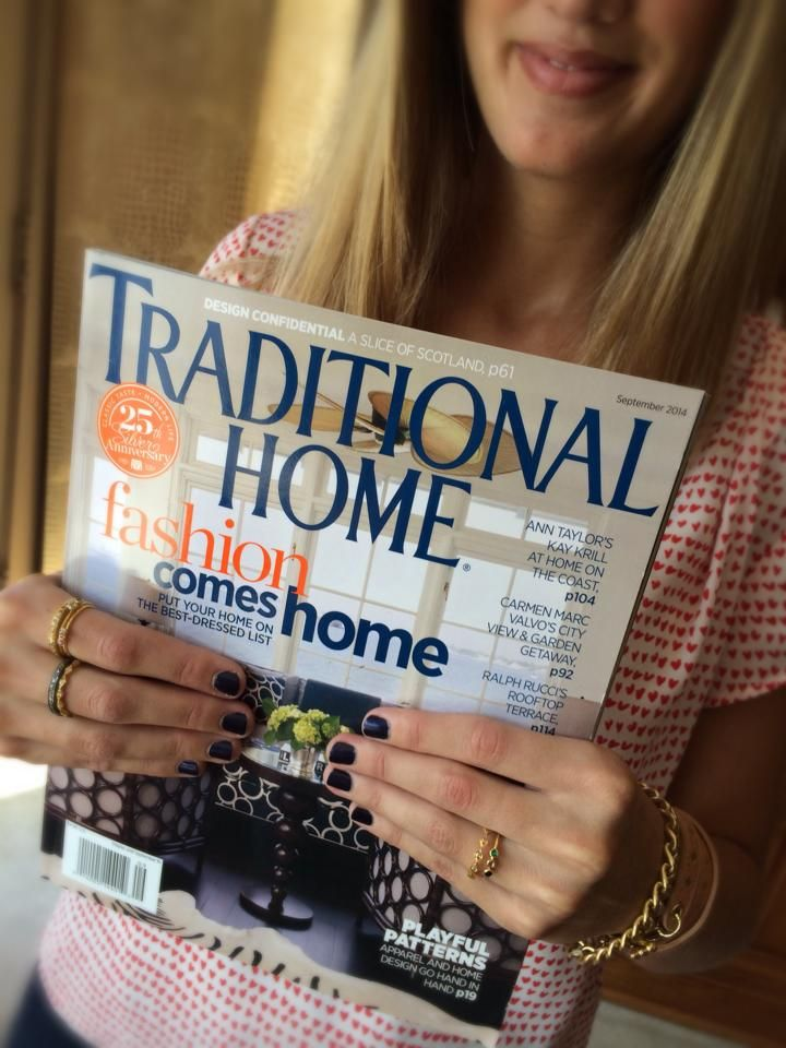 Check out the September issue of Traditional Home to see our Woodley cuff bracelet and Woodward Shield necklace featured in their New + Next section! #exvotovintage #stackingrings #vintagejewelry #traditionalhome