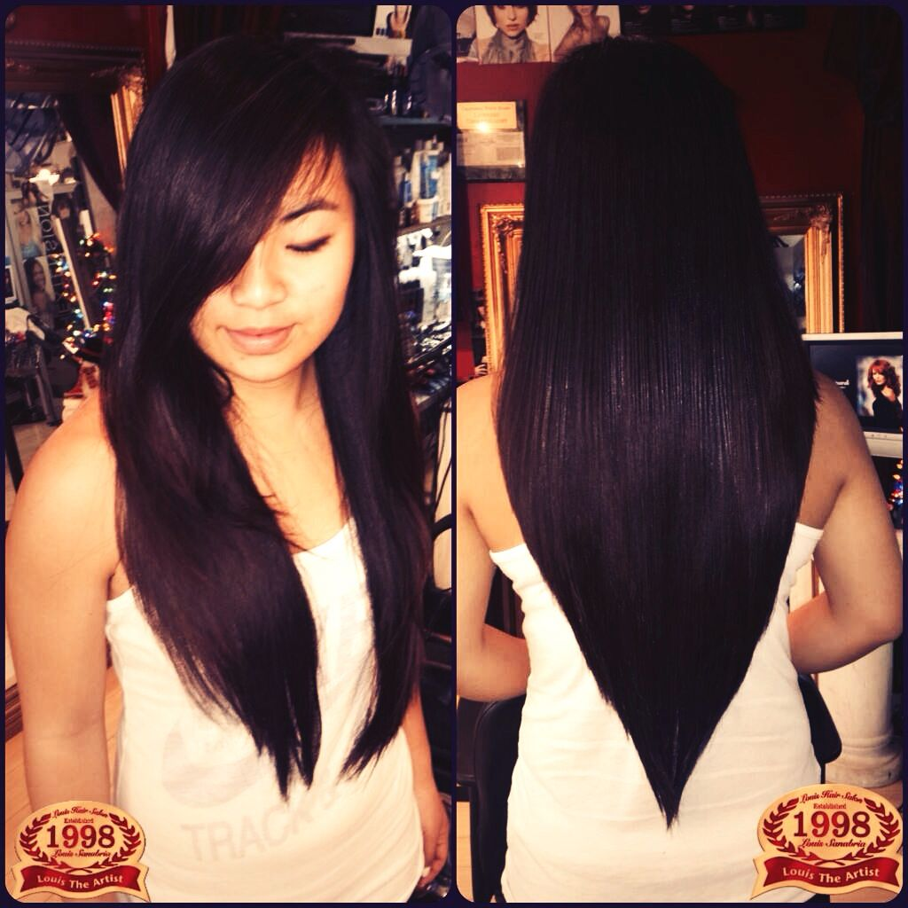Best 25 V Shape Hair Ideas On Pinterest Long V Haircut