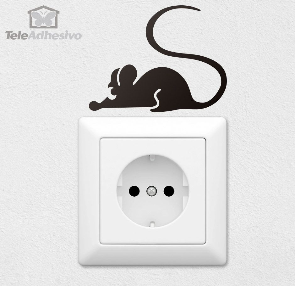 Stickers Muraux Souris Dessin Silhouette Portrait Art Wall