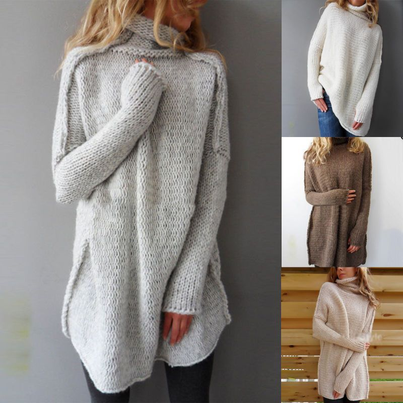 Nice USA Women Long Sleeve Knitted Cardigan Loose Sweater Outwear ...