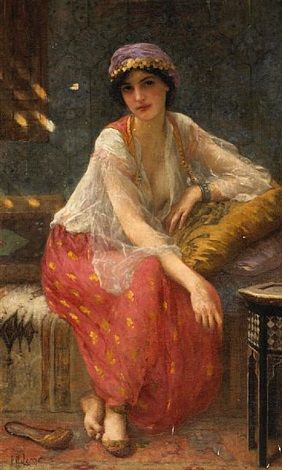Odalisque: Charles Amable Lenoir (French,  1861–1940)                            oil on canvas