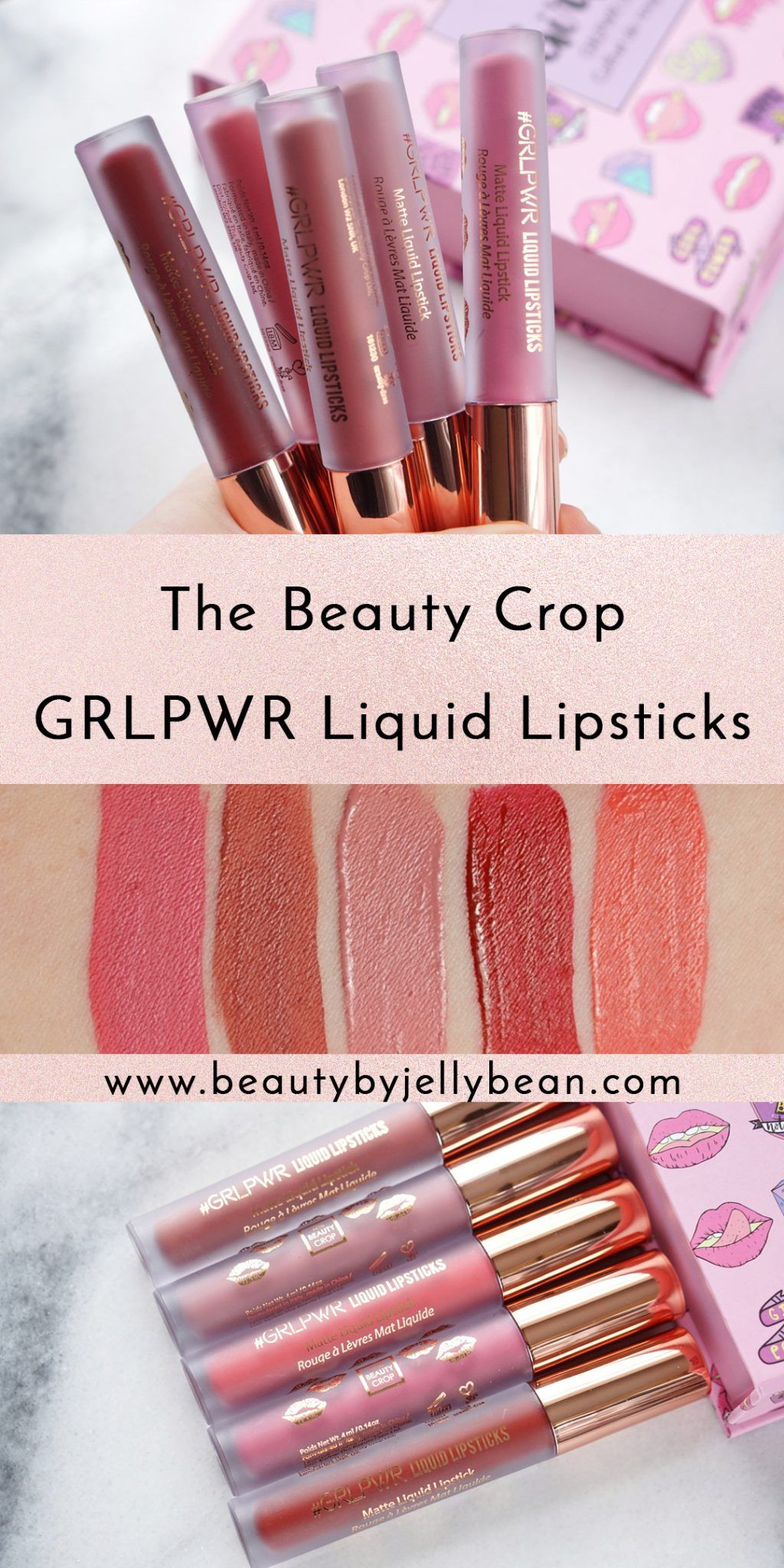 The Beauty Crop First Impressions Makeup swatches