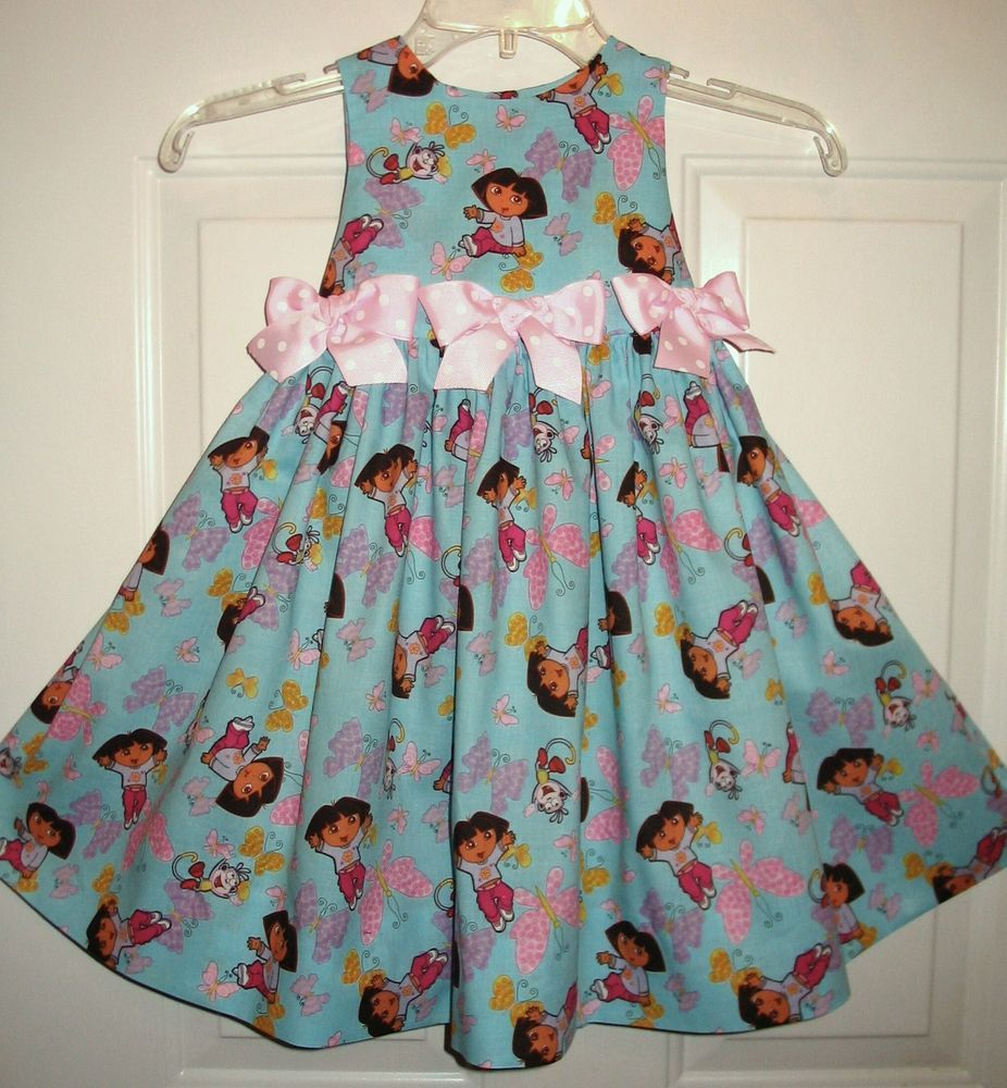 Boutique DORA THE EXPLORER and Boots Blue Fly Away Dress Size 5 ...