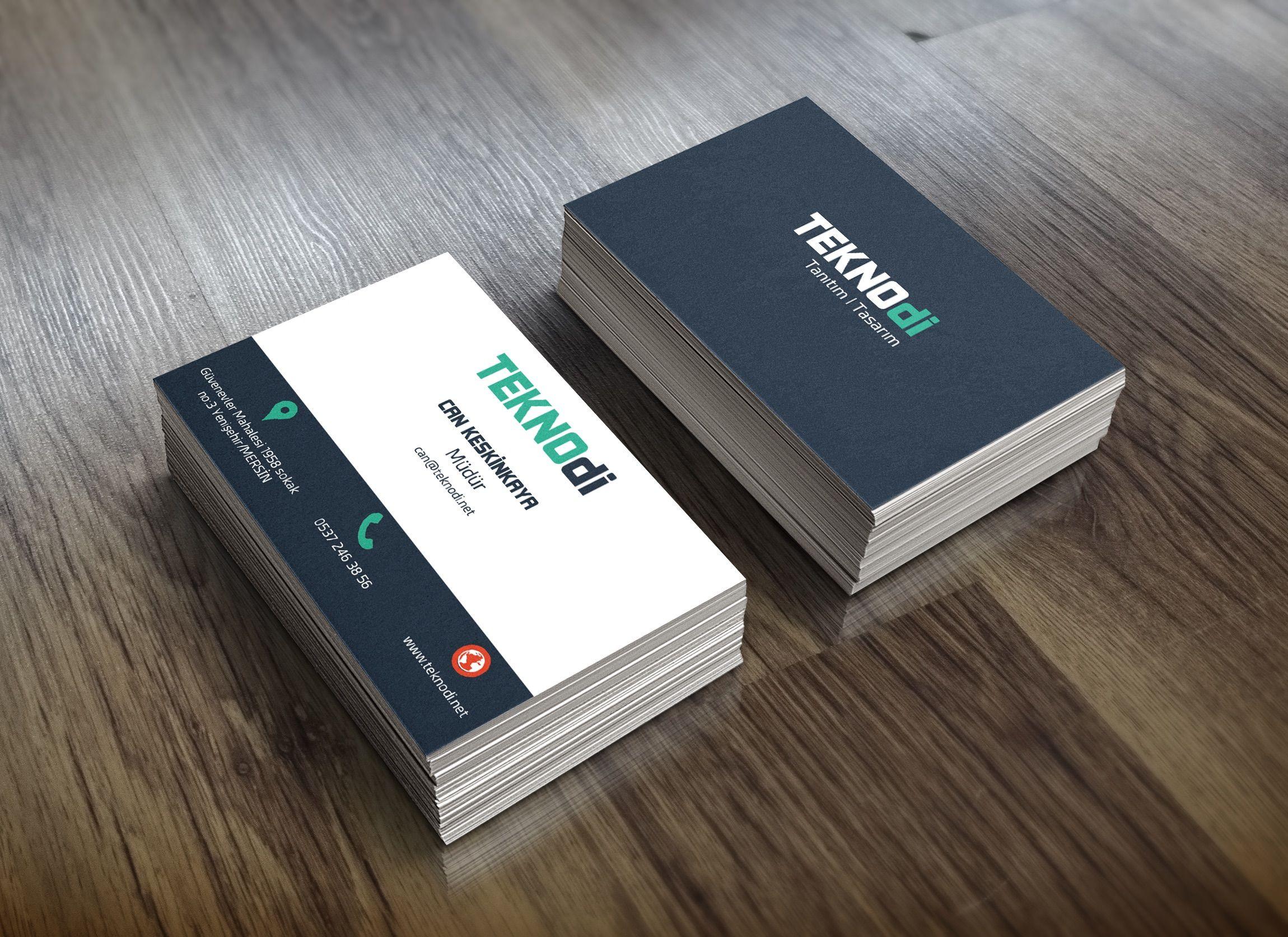 teknodi firması kartvizit çalışması graphic design