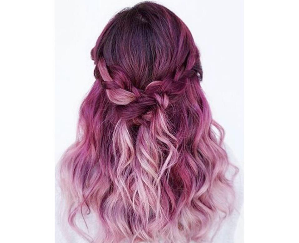 Pink And Purple Hair Styles: Image Result For Orange And Pink Dip Dye Hair