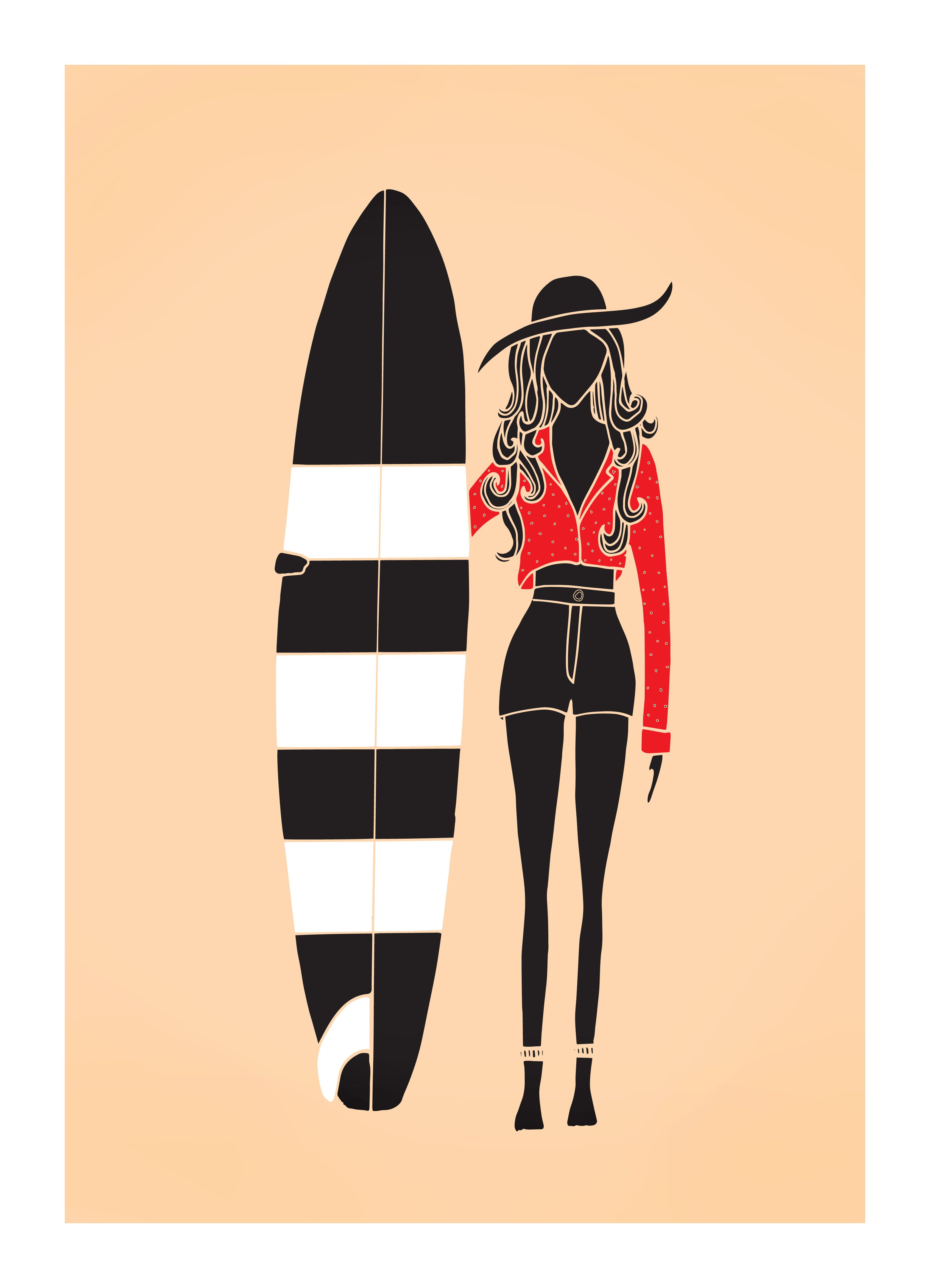 Surfer Girl by Lizzy Artwork